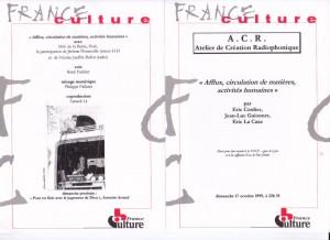 Afflux-France Culture ProgrammeACR-1